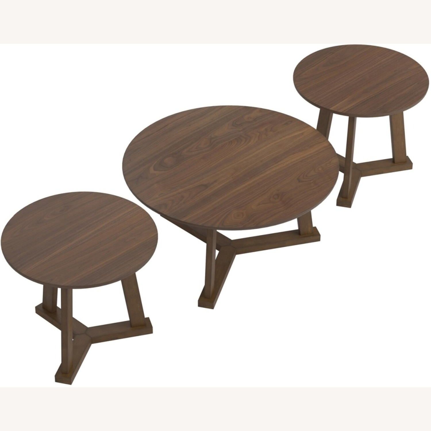 Versitile 3-Piece Occasional Set In Natural Walnut - image-1