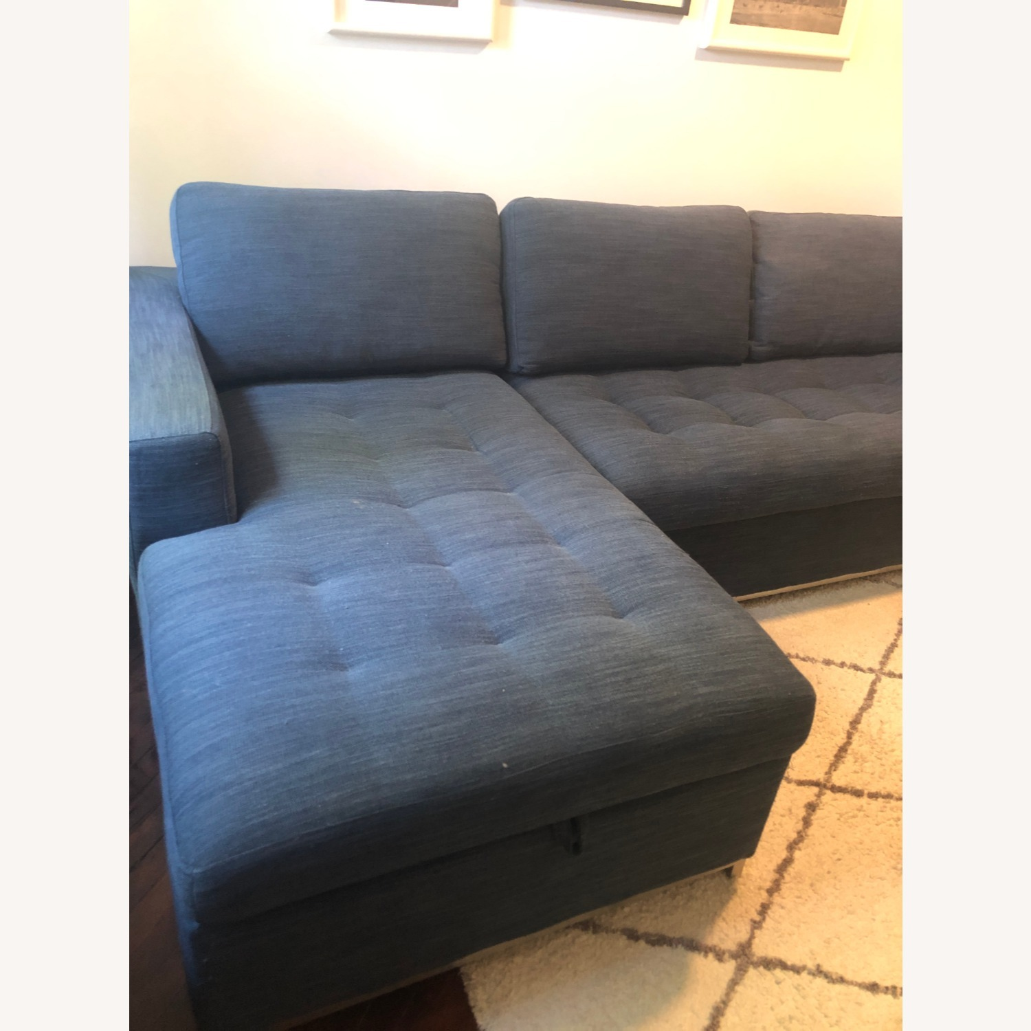 Article Soma Midnight Blue Sleeper Sectional Sofa - image-7