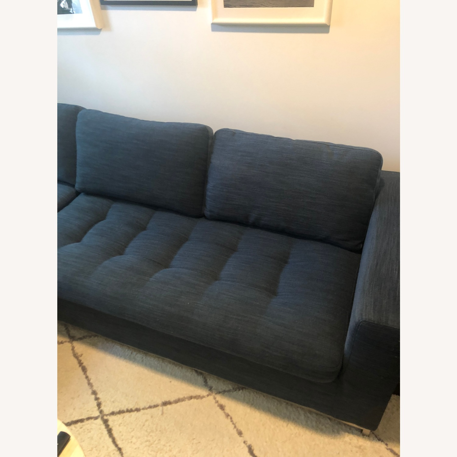 Article Soma Midnight Blue Sleeper Sectional Sofa - image-5