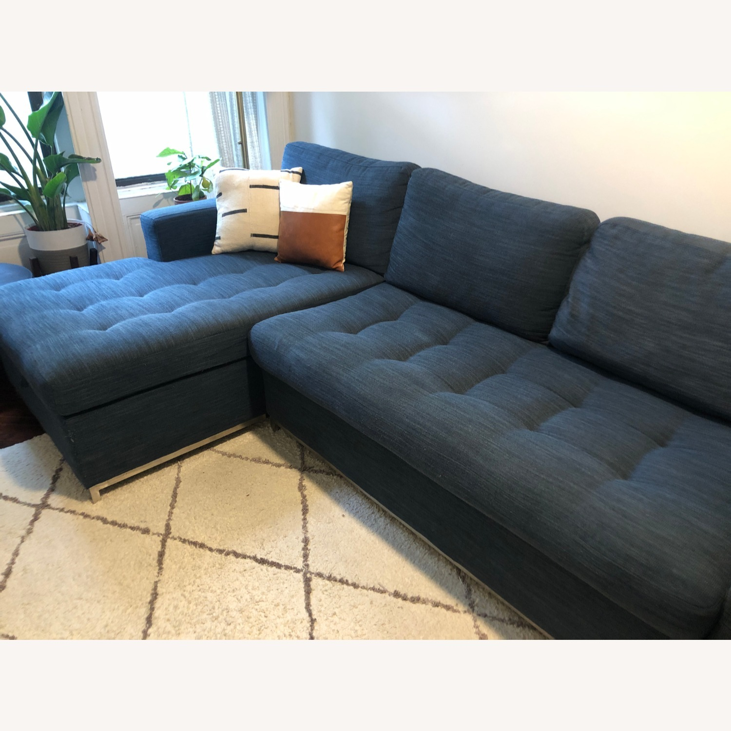 Article Soma Midnight Blue Sleeper Sectional Sofa - image-2