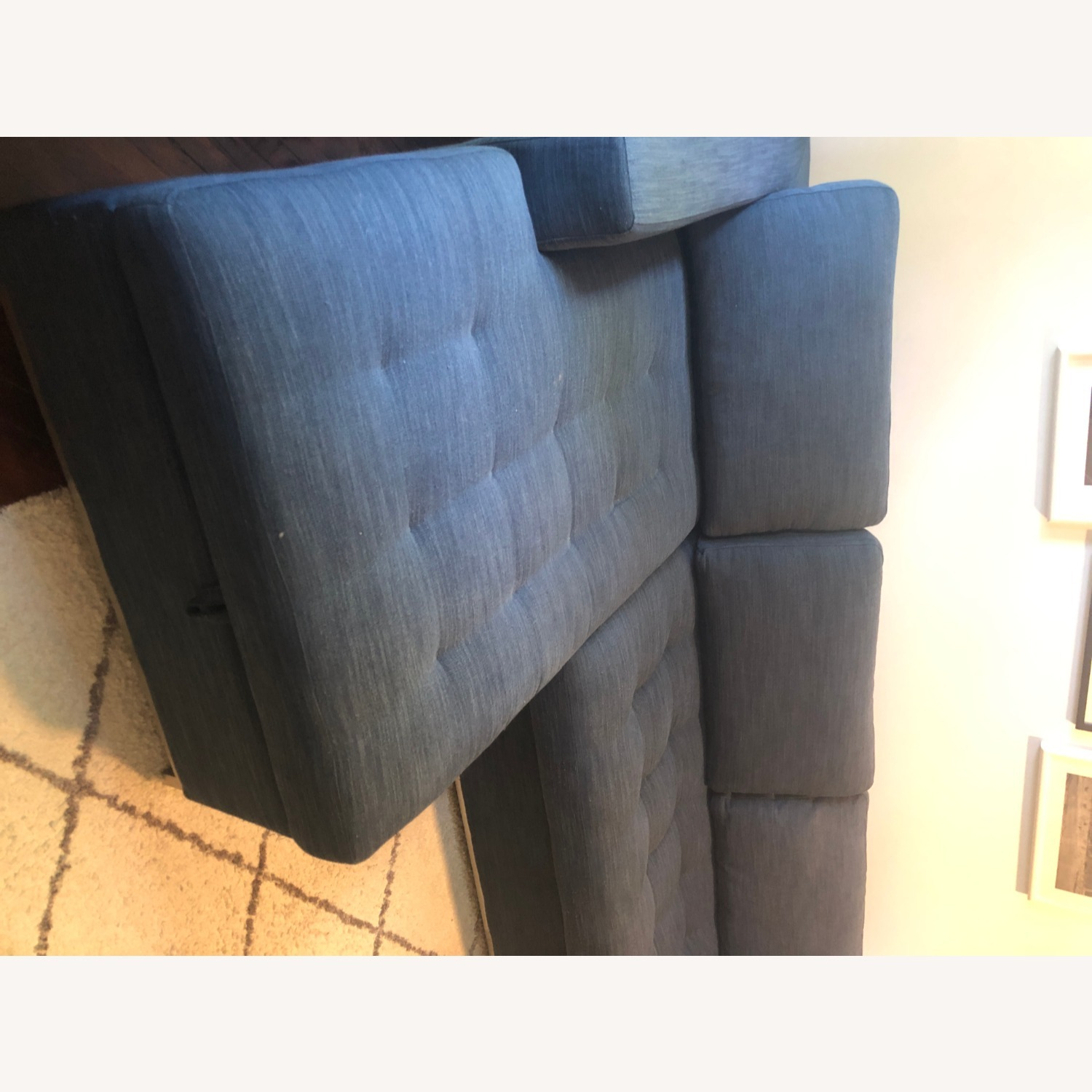 Article Soma Midnight Blue Sleeper Sectional Sofa - image-11