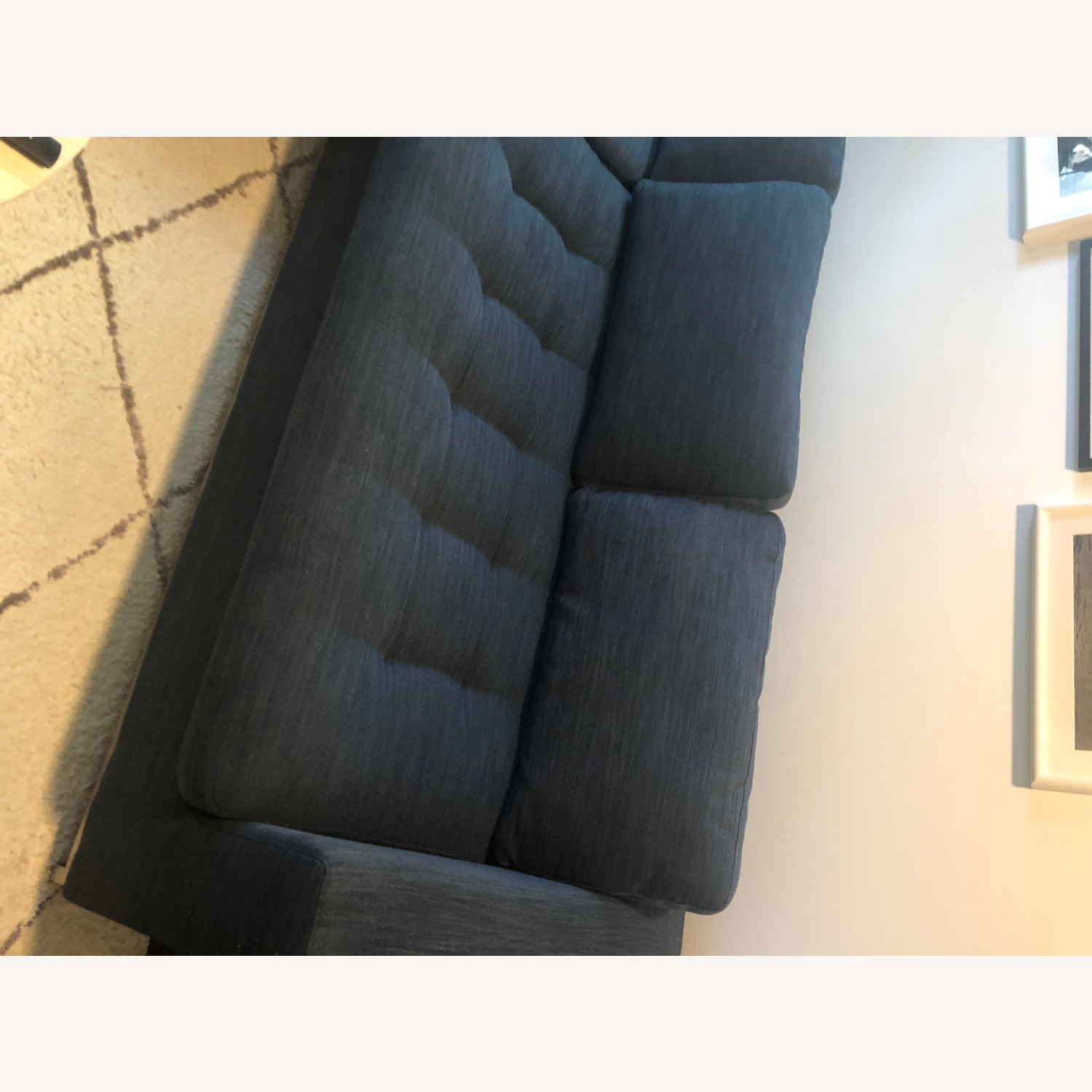 Article Soma Midnight Blue Sleeper Sectional Sofa - image-12