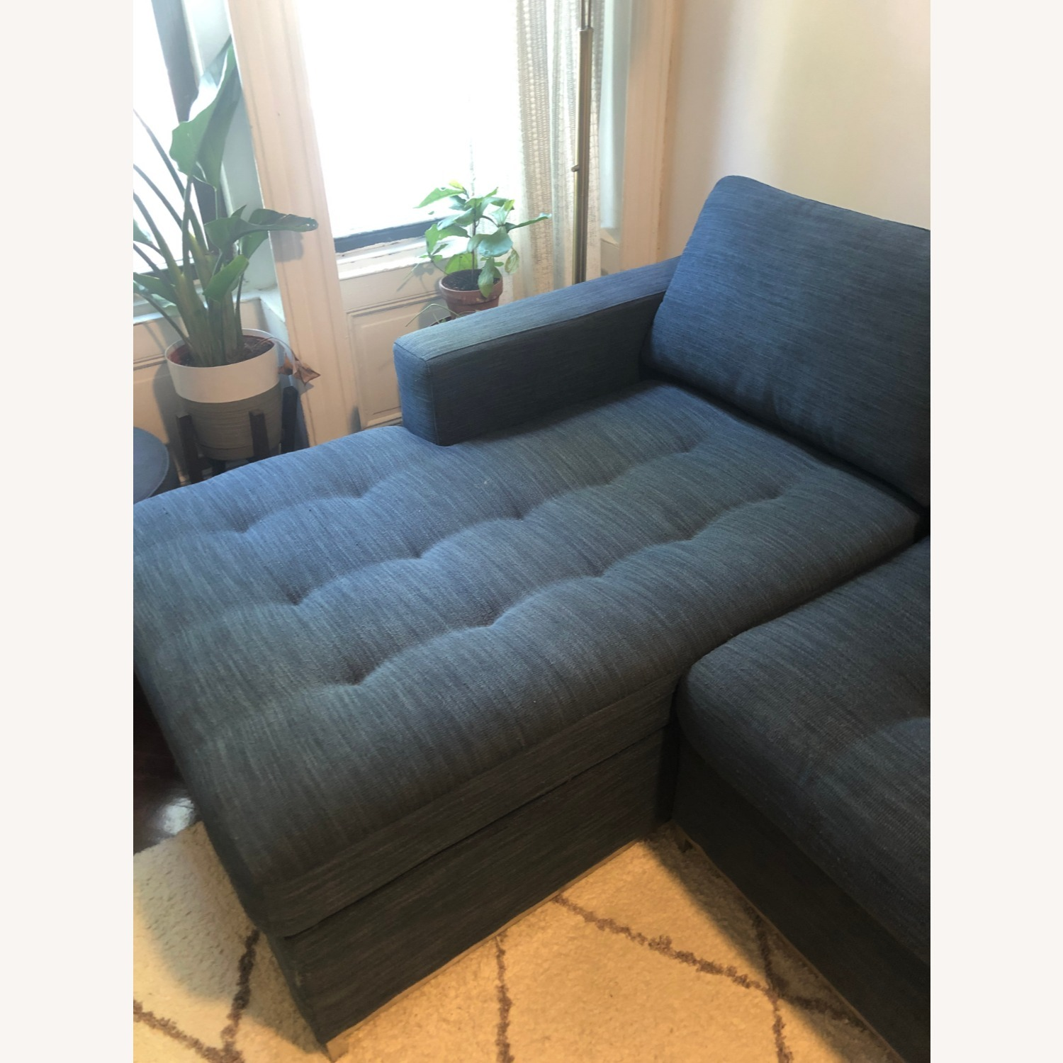 Article Soma Midnight Blue Sleeper Sectional Sofa - image-10