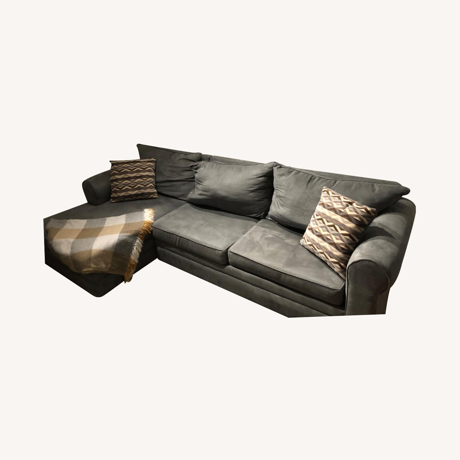 Bob's Discount Ash Grey Sectional Couch - image-0