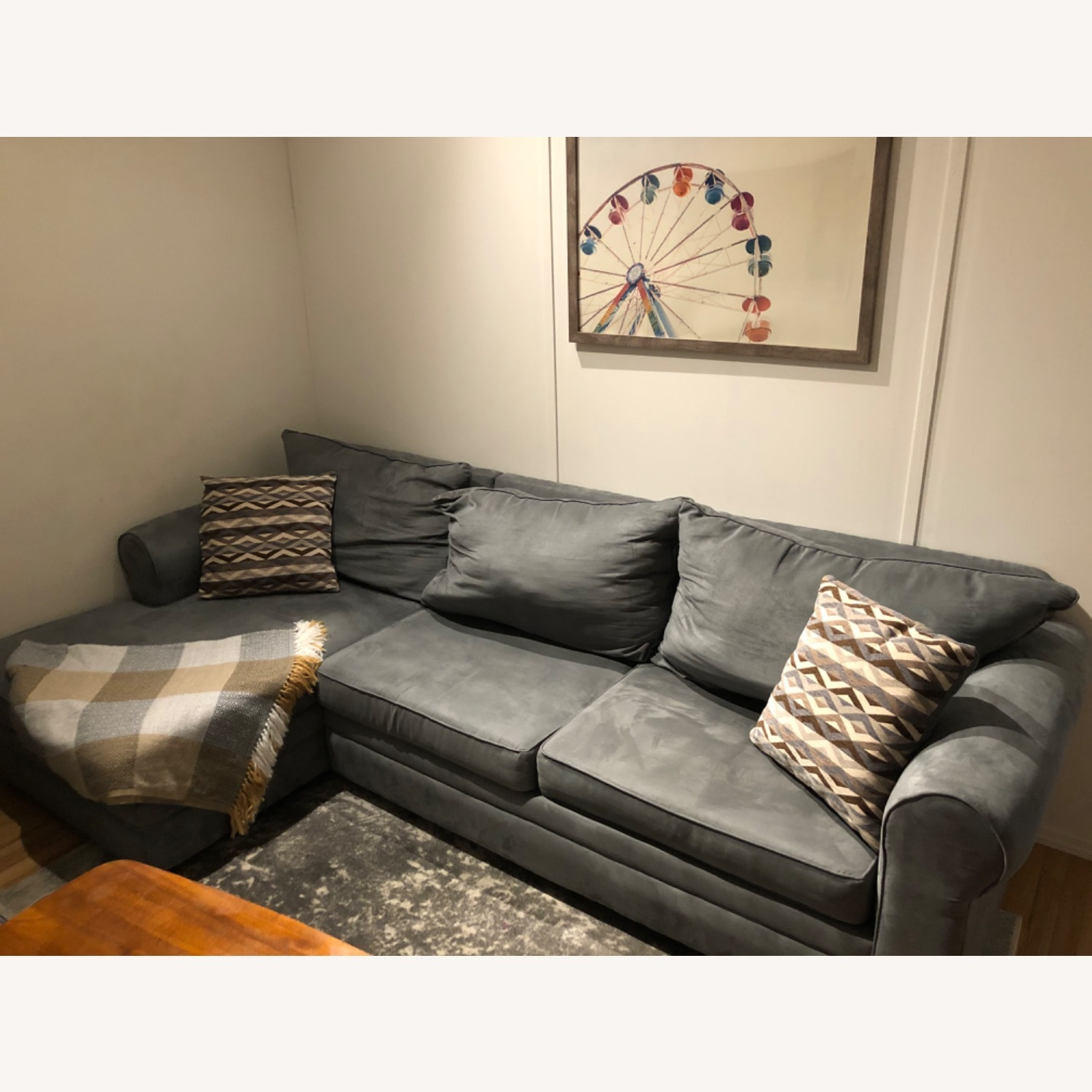 Bob's Discount Ash Grey Sectional Couch - image-3