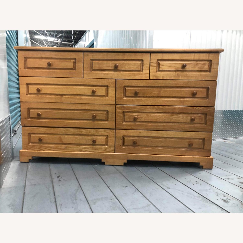 9 Drawer Light Brown Dresser - image-13