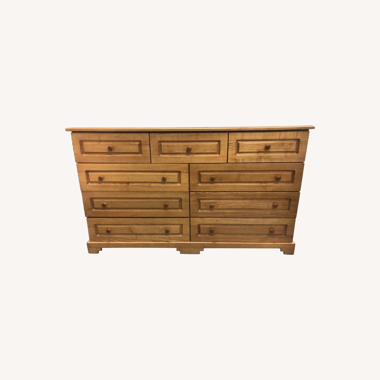 9 Drawer Light Brown Dresser - image-0
