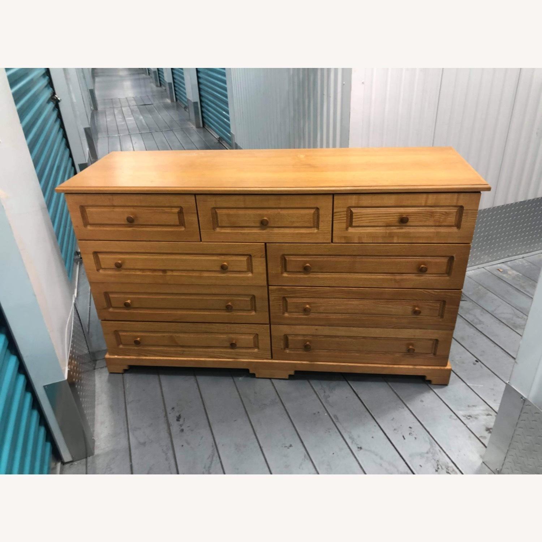 9 Drawer Light Brown Dresser - image-14