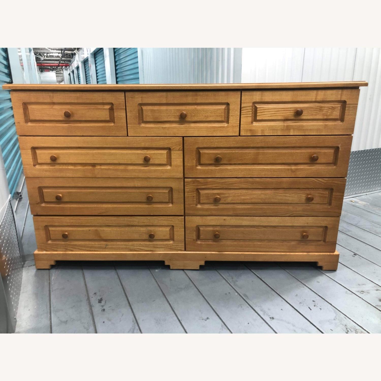 9 Drawer Light Brown Dresser - image-2