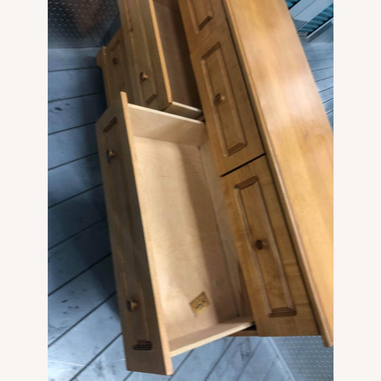 9 Drawer Light Brown Dresser - image-4