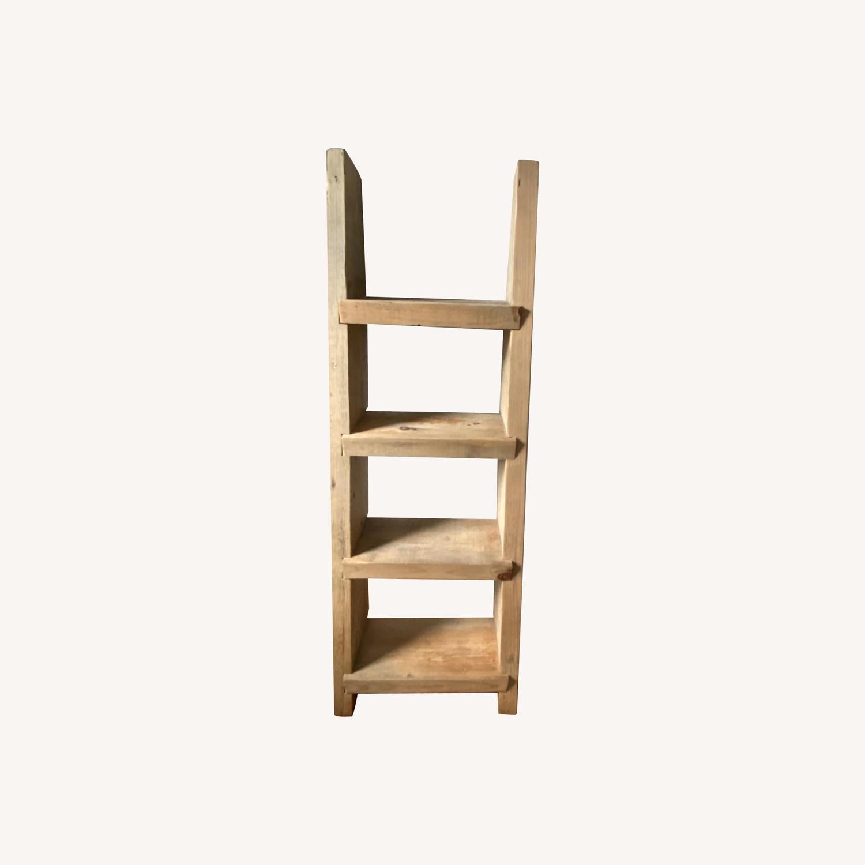 Custom Birch Leaning Bookshelf - image-0