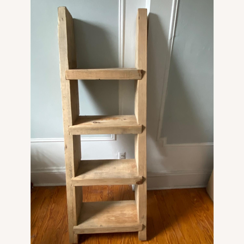 Custom Birch Leaning Bookshelf - image-1
