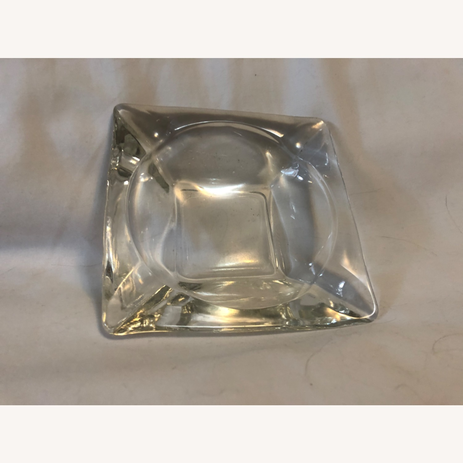 Vintage Clear Glass Ashtray - image-0