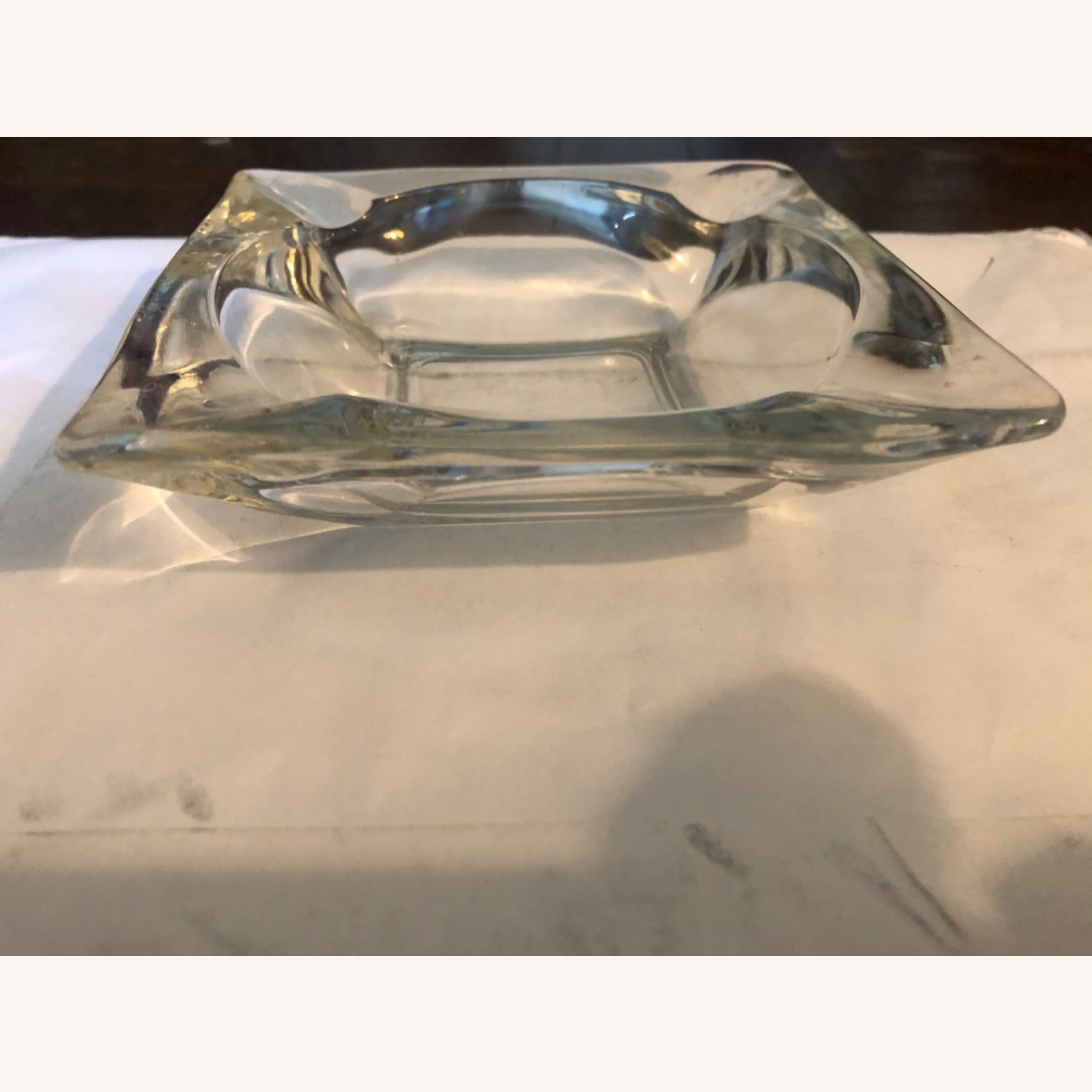 Vintage Clear Glass Ashtray - image-2