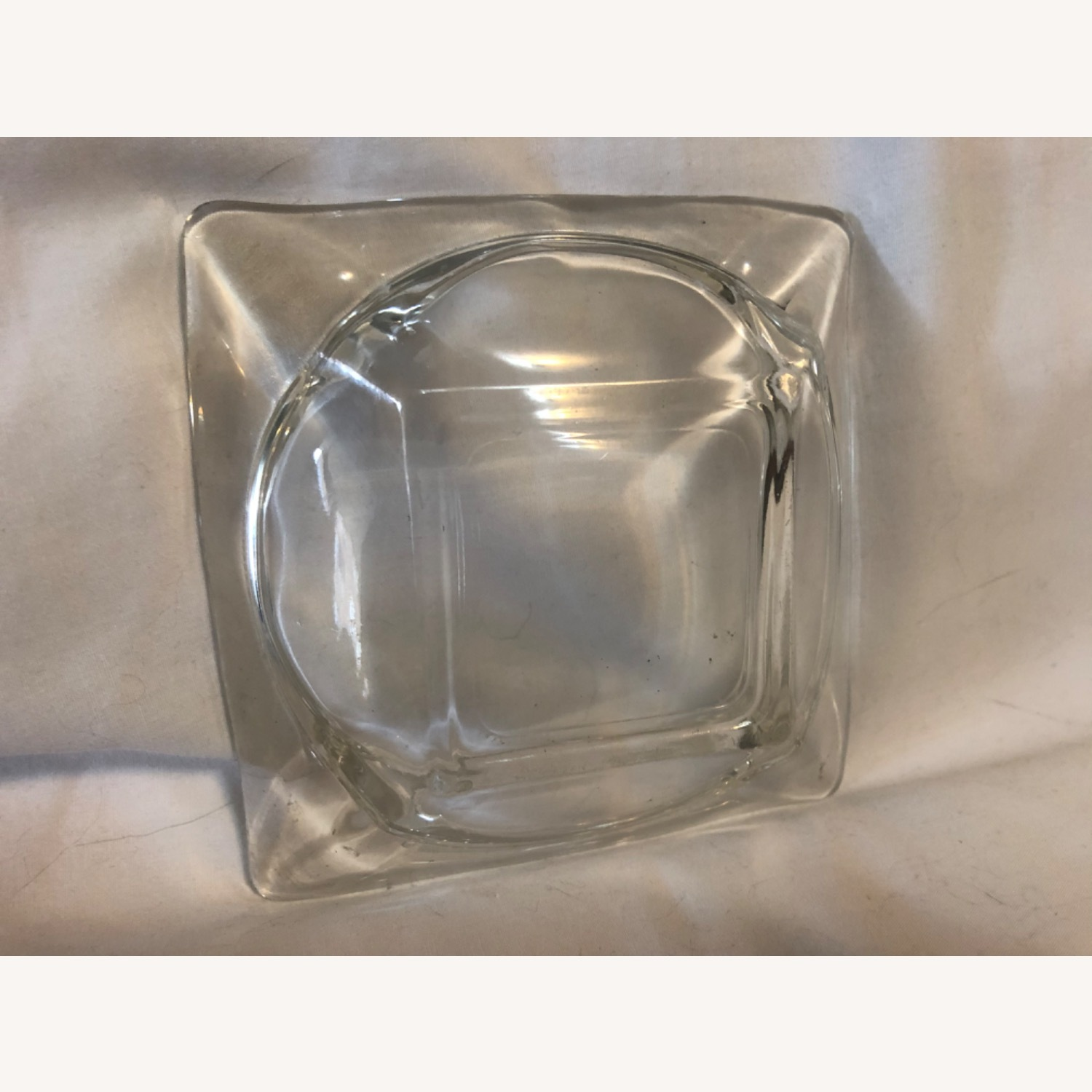 Vintage Clear Glass Ashtray - image-1