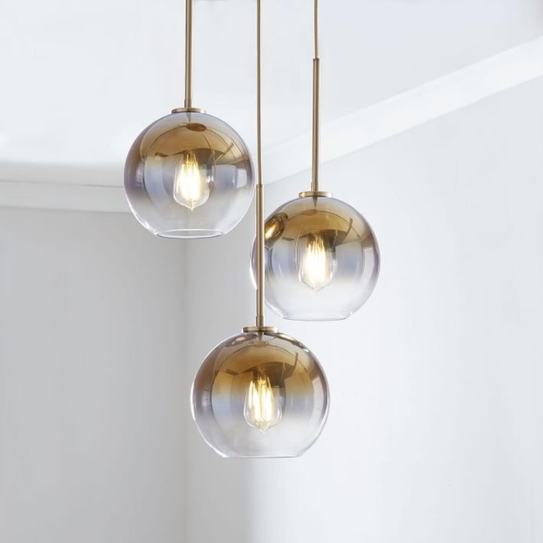West Elm Sculptural Glass 3-Light Globe Chandelier - image-3