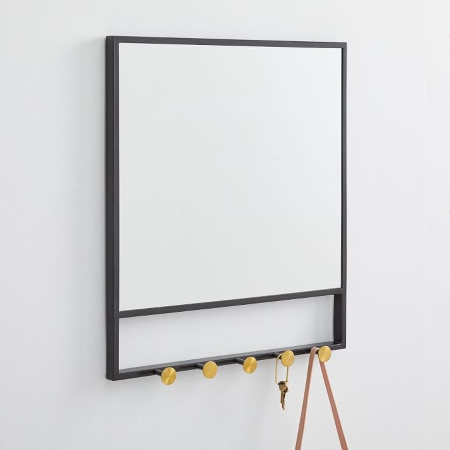 West Elm Floating Lines Wall Mirror - image-1