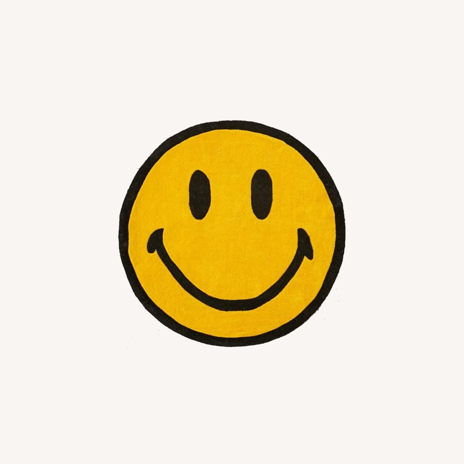 Urban Outfitters Smiley Plush Rug - image-0