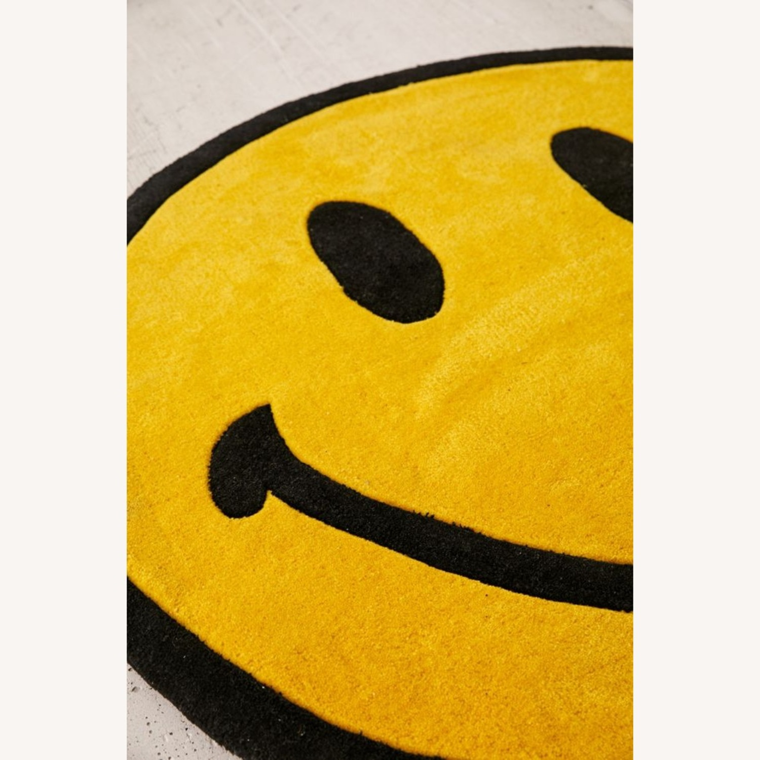 Urban Outfitters Smiley Plush Rug - image-3