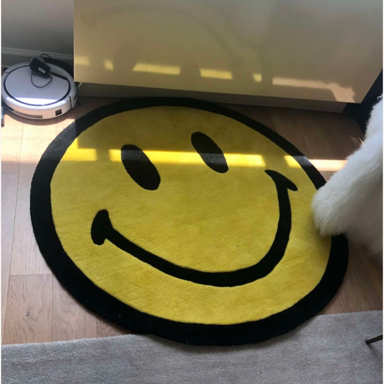 Urban Outfitters Smiley Plush Rug - image-2