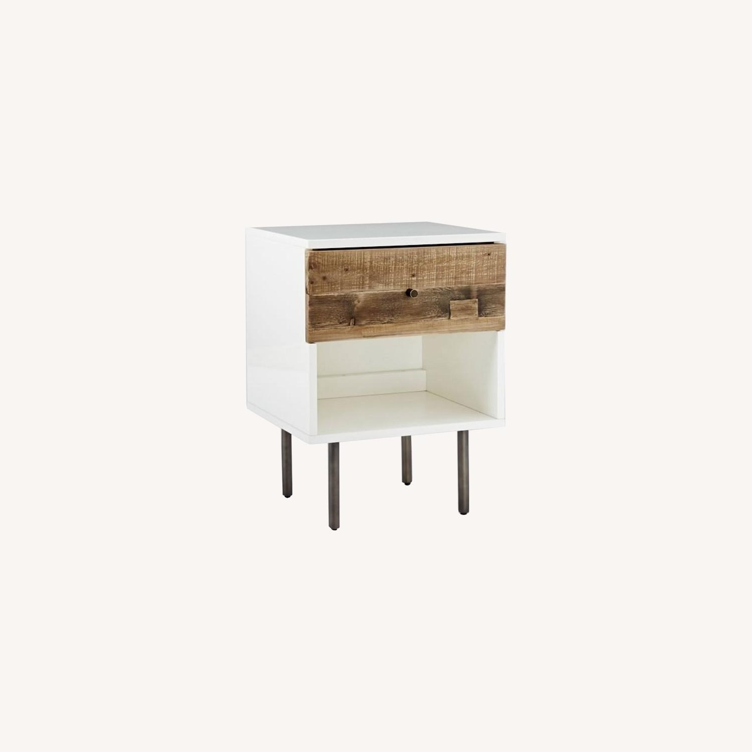 West Elm Reclaimed Wood + Lacquer Nightstand - image-0