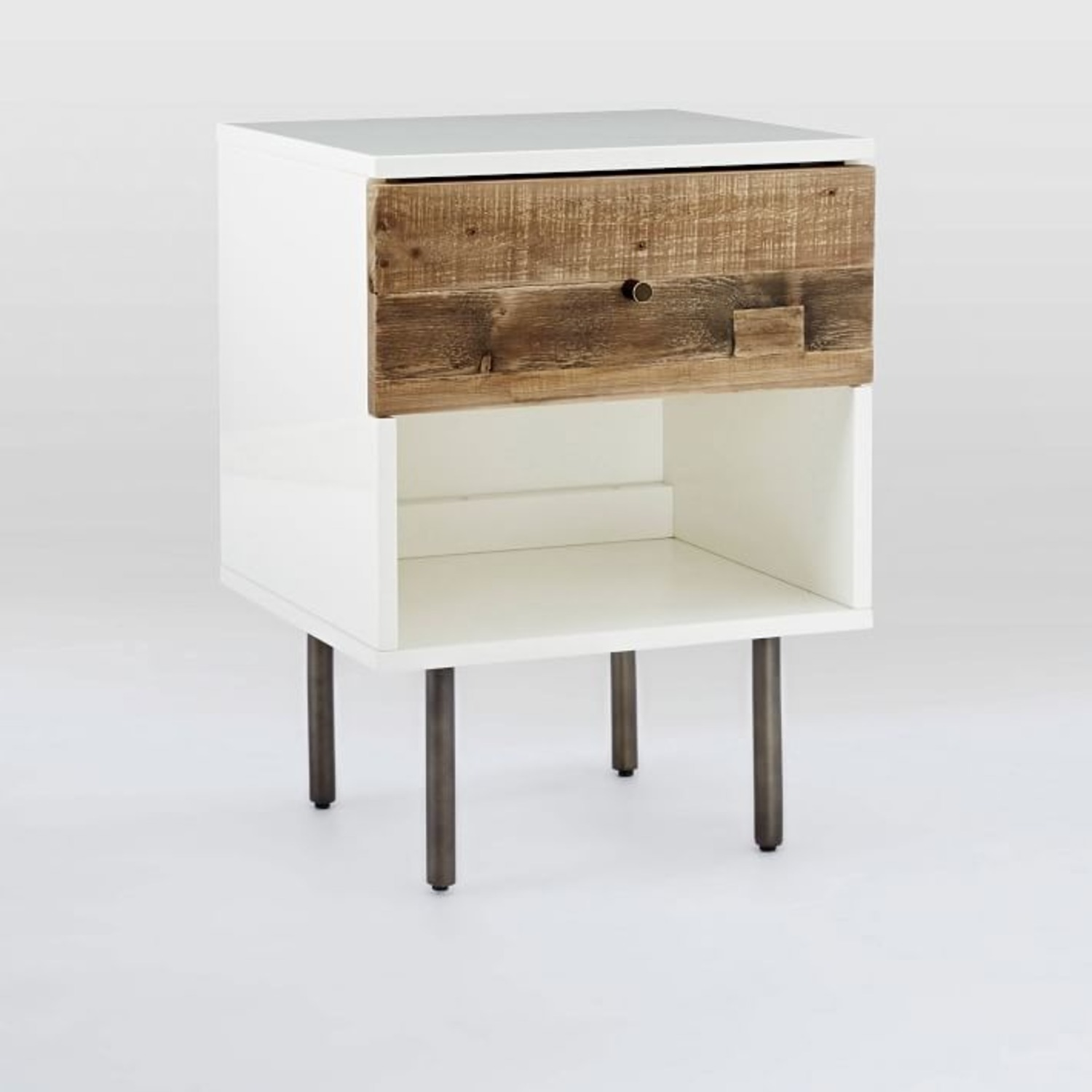 West Elm Reclaimed Wood + Lacquer Nightstand - image-1
