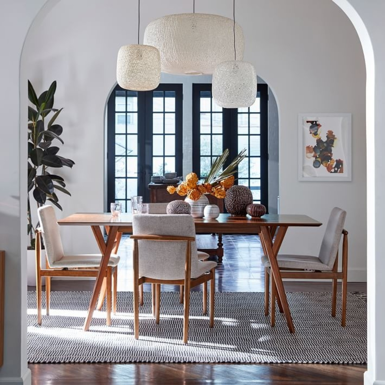 West Elm Mid-Century Expandable Dining Table - image-3