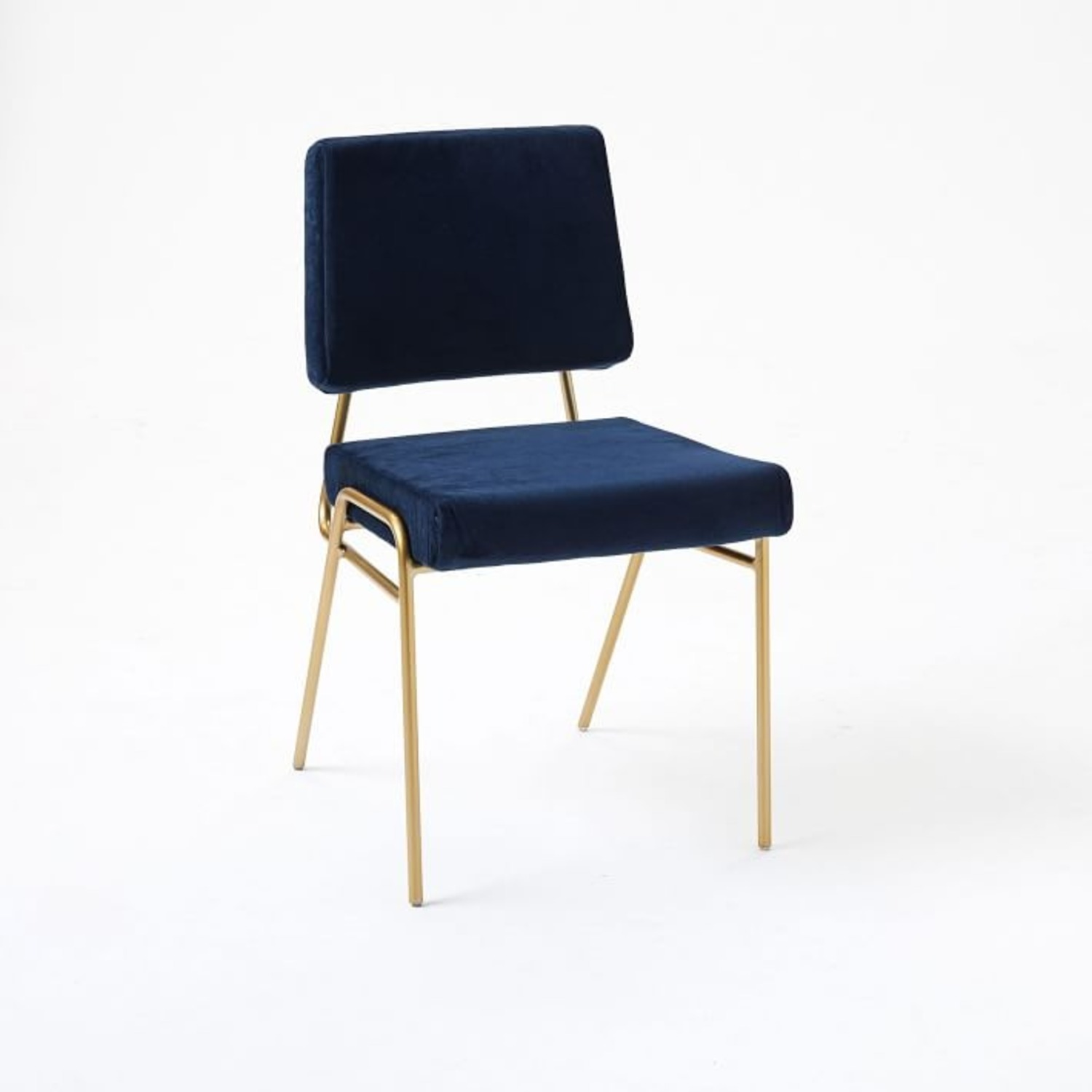 West Elm Wire Frame Upholstered Dining Chair - image-1