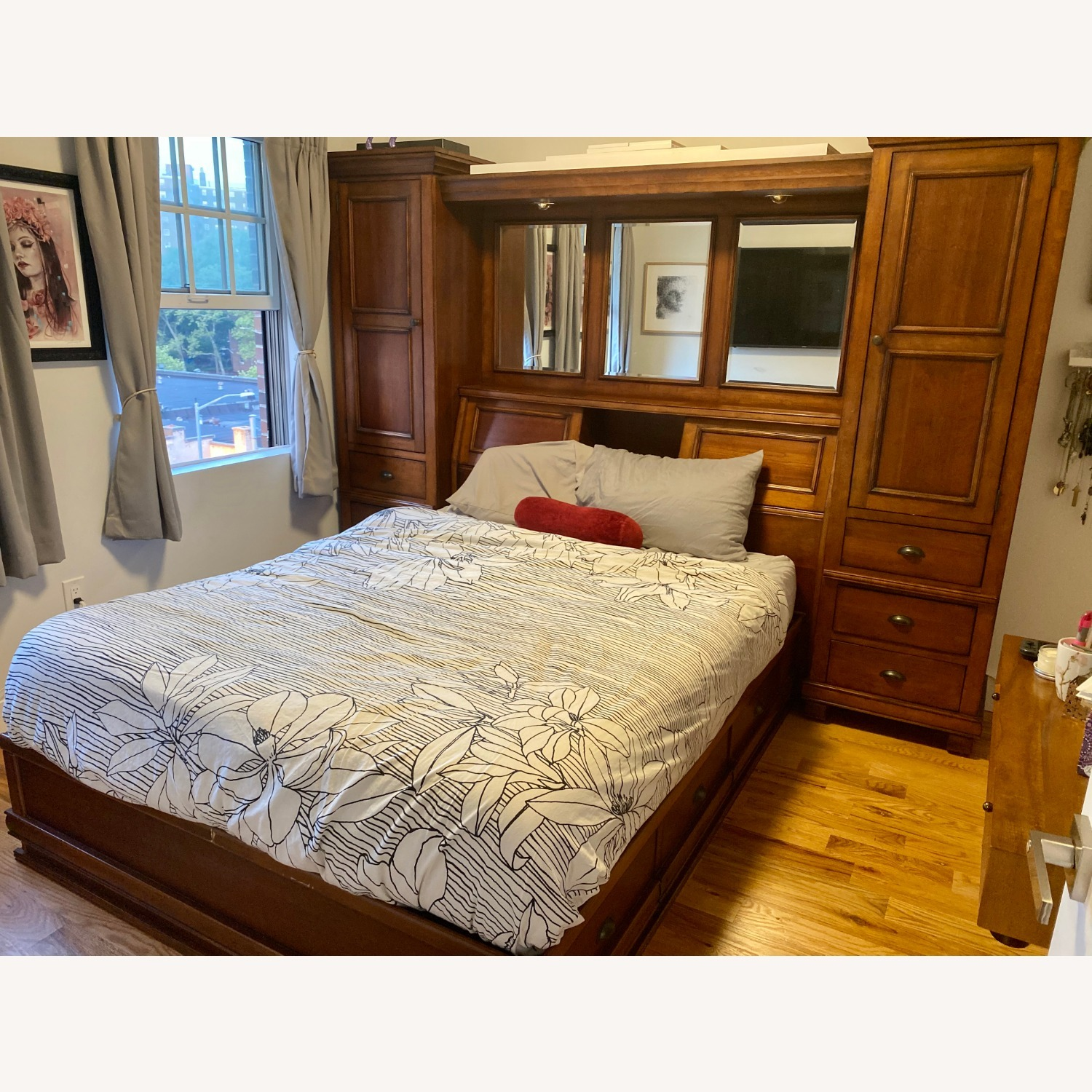Storage Queen Bed w/ 2 Armoires - image-18