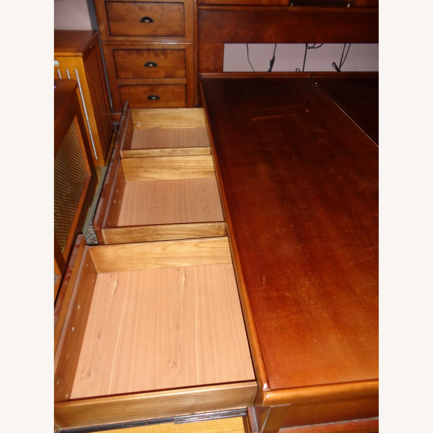 Storage Queen Bed w/ 2 Armoires - image-6