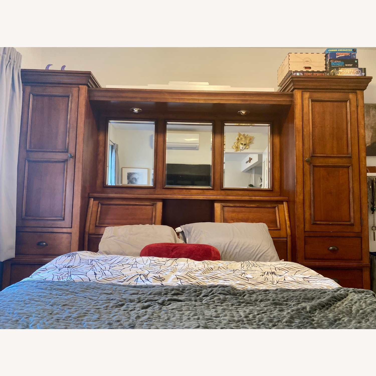 Storage Queen Bed w/ 2 Armoires - image-16