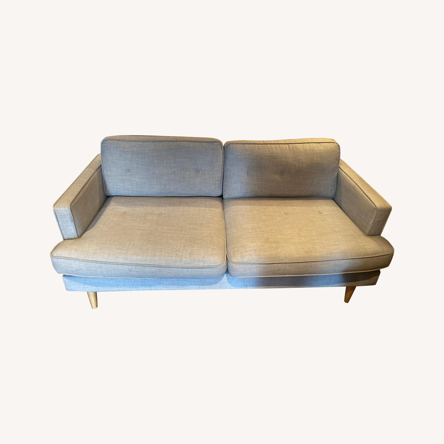World Market Dove Grey Sofa - image-0