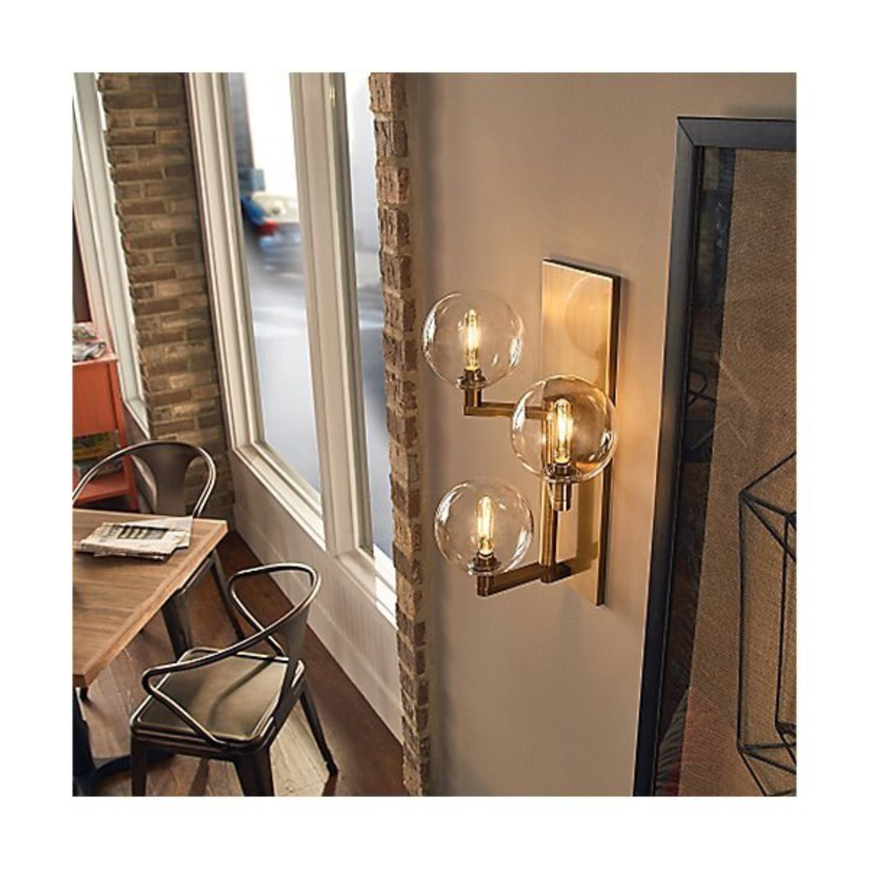 TechLighting Gambit Triple LED Wall Sconces, Brass - image-2