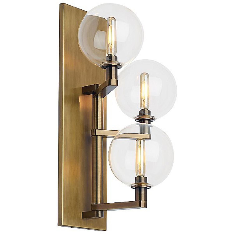 TechLighting Gambit Triple LED Wall Sconces, Brass - image-0