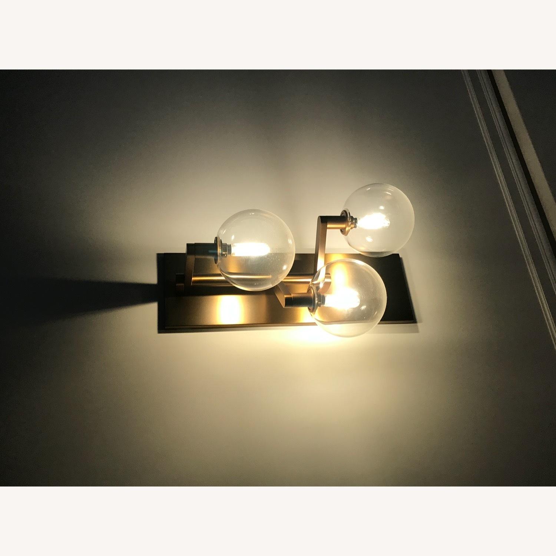 TechLighting Gambit Triple LED Wall Sconces, Brass - image-1