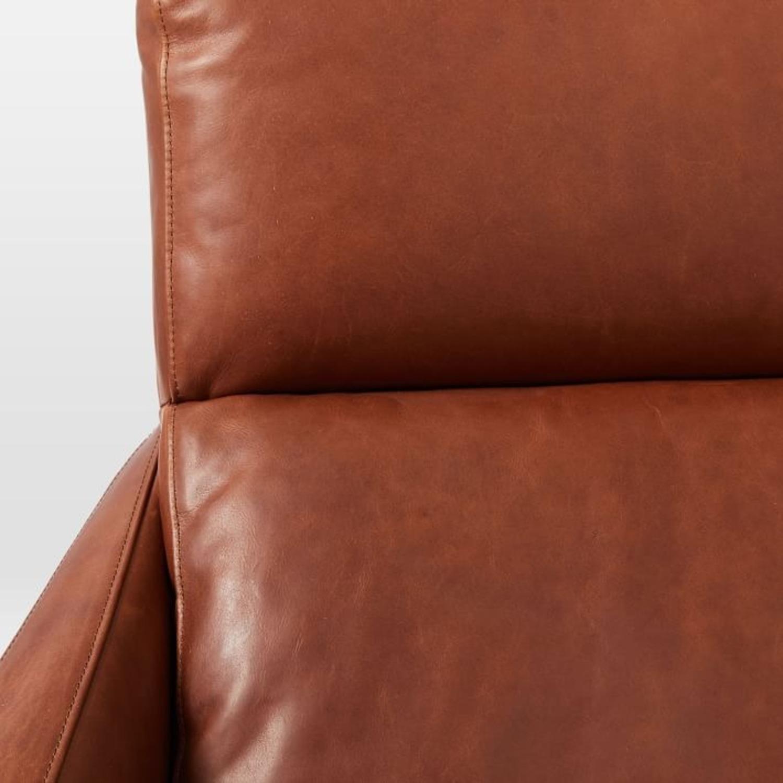 West Elm Austin Leather Swivel Chair - image-2