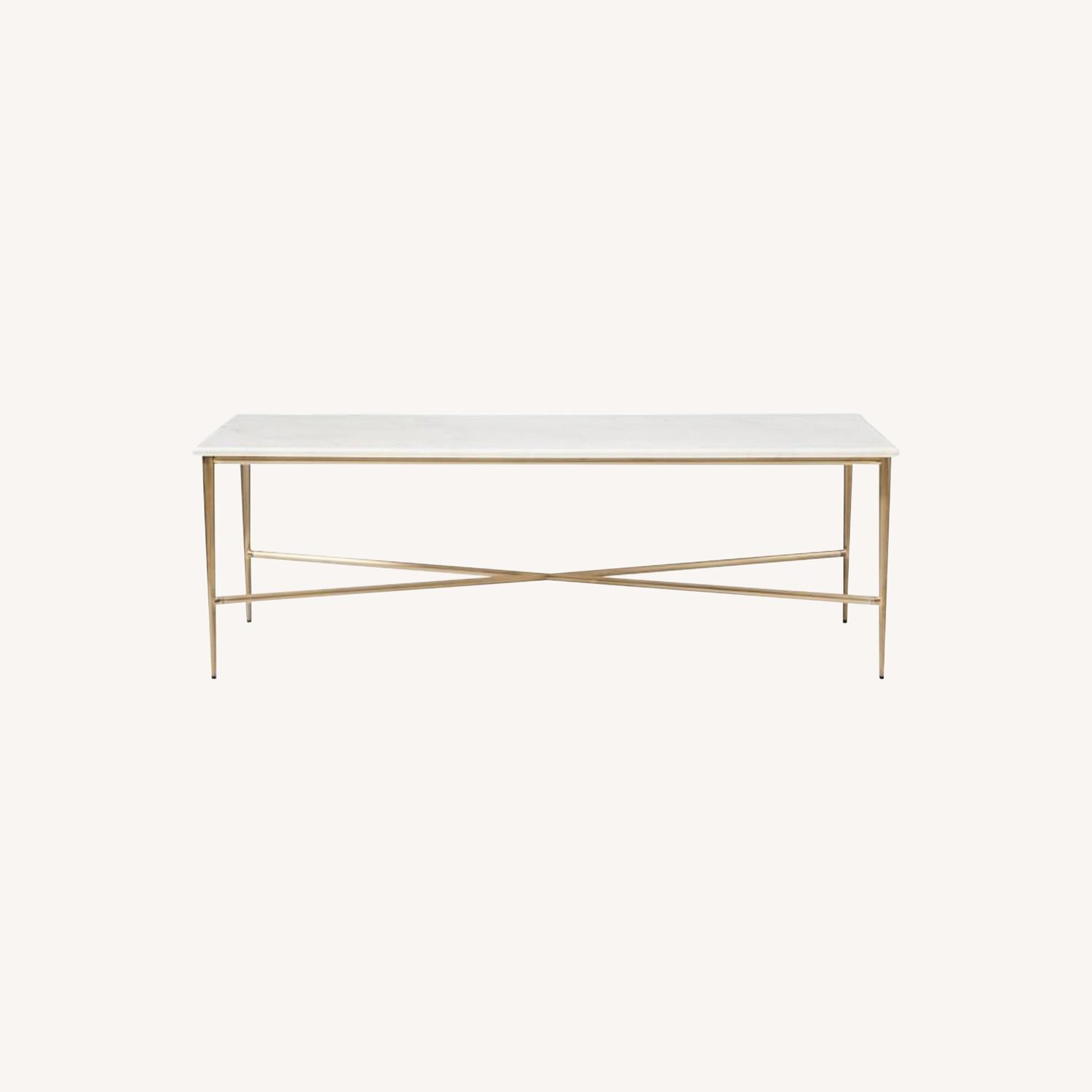 West Elm Neve Rectangle Coffee Table - image-0