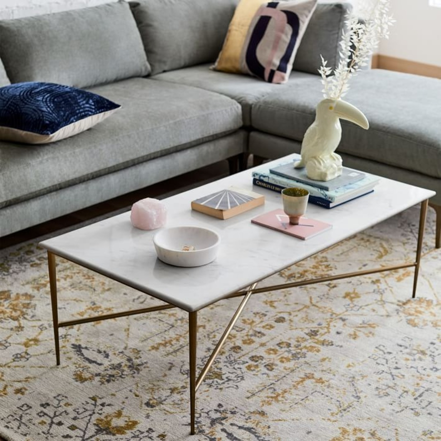 West Elm Neve Rectangle Coffee Table - image-3