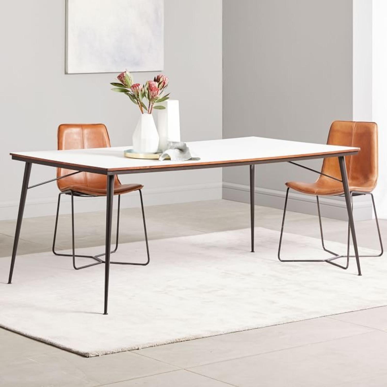West Elm Paulson Dining Table - White Laminate - image-2