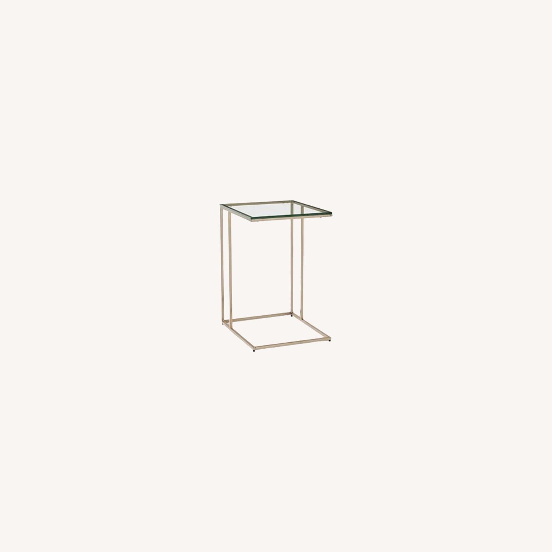 West Elm Streamline C-Side Table - Glass - image-0