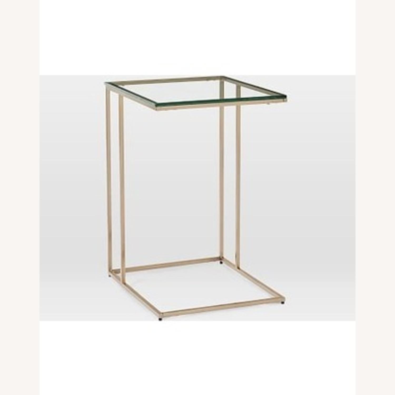 West Elm Streamline C-Side Table - Glass - image-1