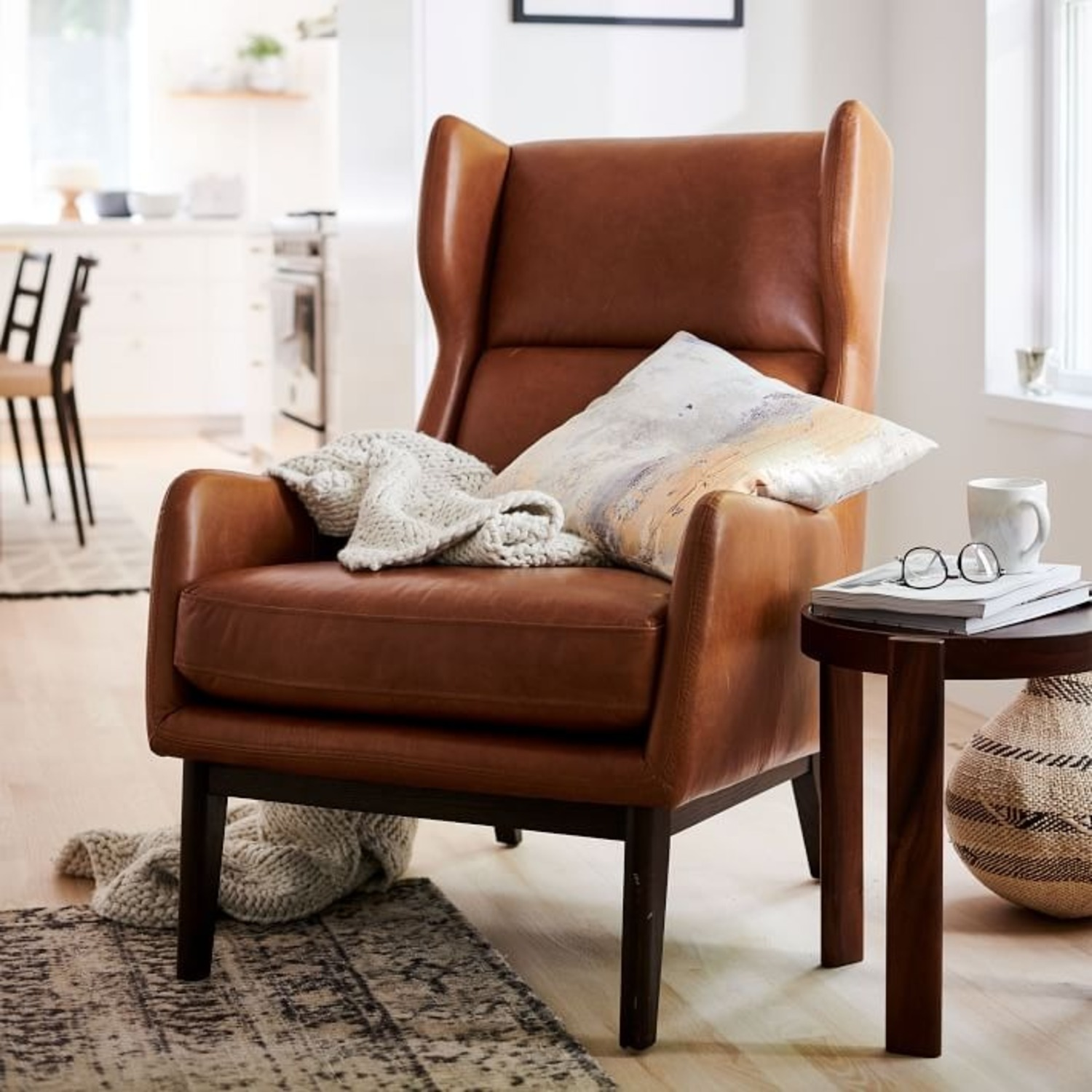 West Elm Ryder Leather Chair - image-3