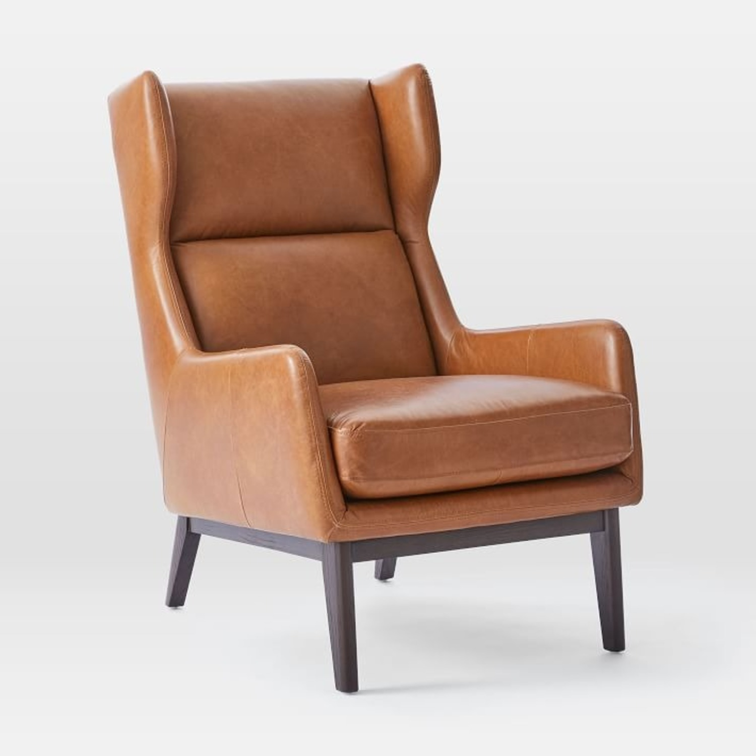 West Elm Ryder Leather Chair - image-1