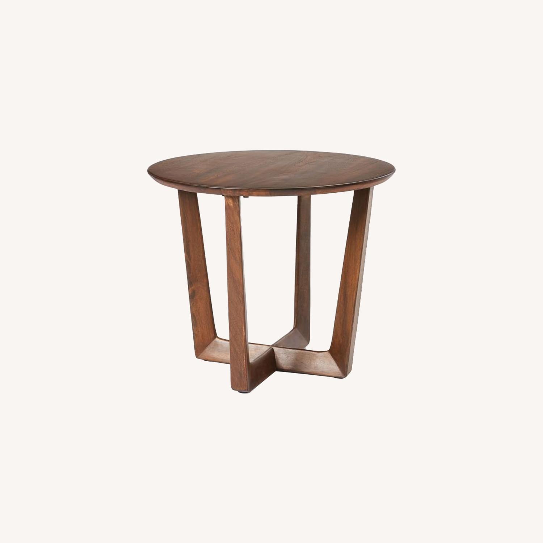 West Elm Stowe Side Table, Dark Walnut - image-0