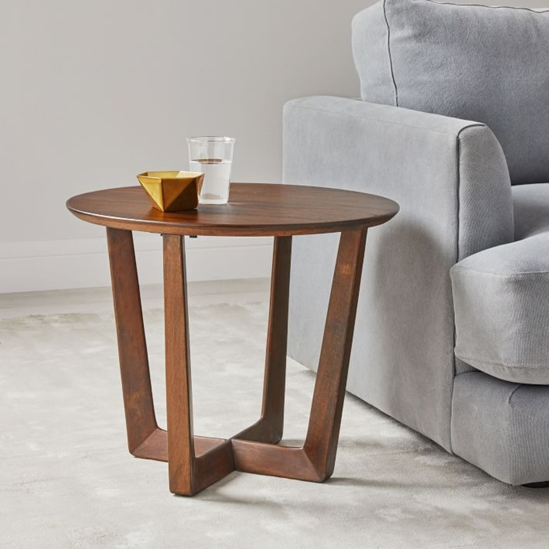 West Elm Stowe Side Table, Dark Walnut - image-2
