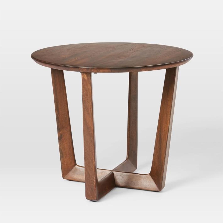 West Elm Stowe Side Table, Dark Walnut - image-1