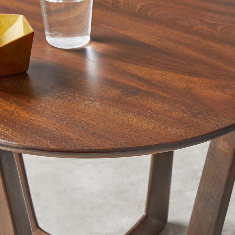 West Elm Stowe Side Table, Dark Walnut - image-3