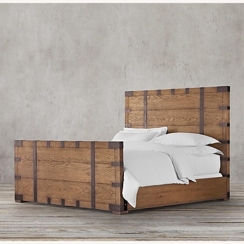 Restoration Hardware Heirloom Queen Bed Frame - image-0