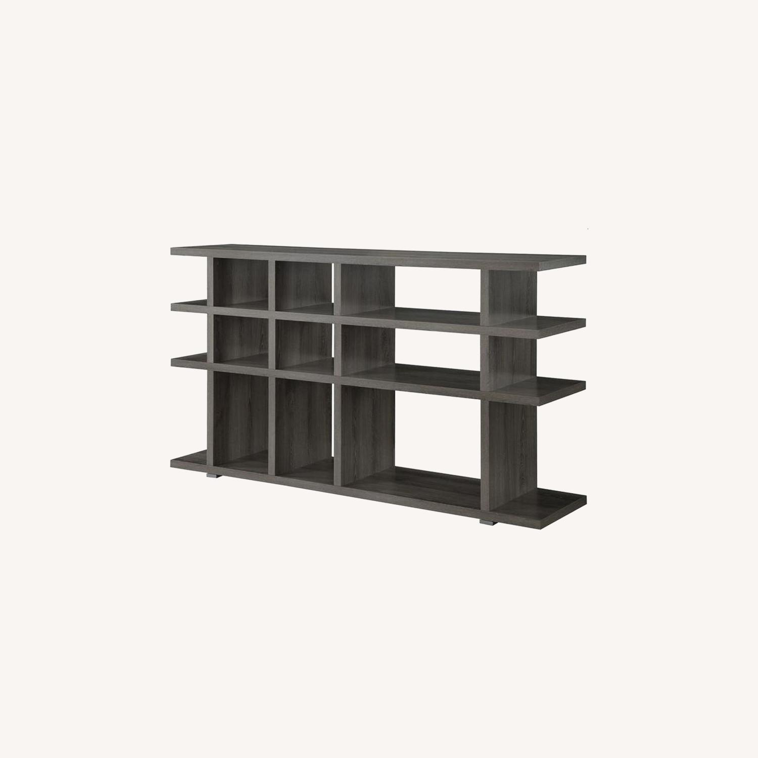 Rustic Bookcase In Weathered Grey Finish - image-3