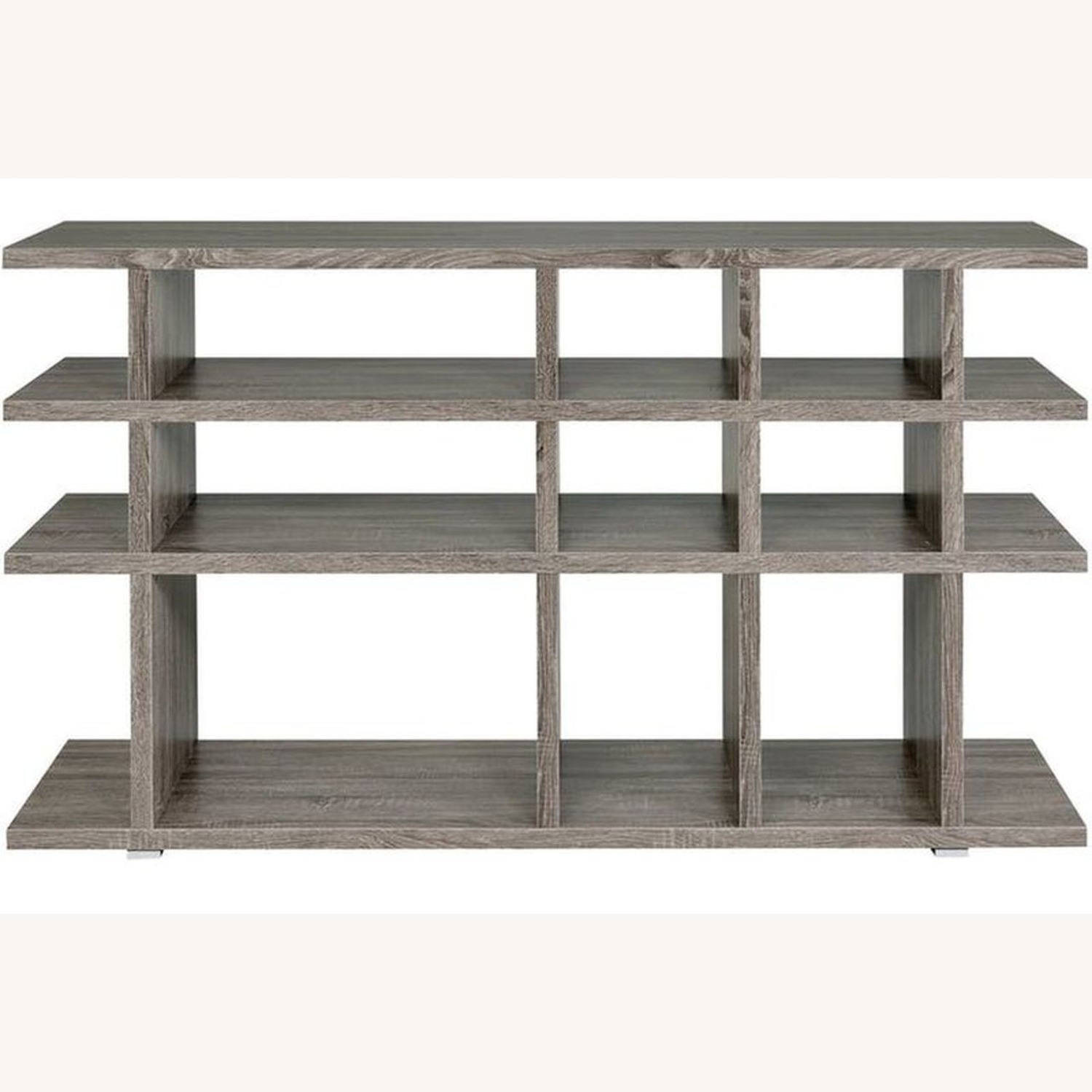 Rustic Bookcase In Weathered Grey Finish - image-1